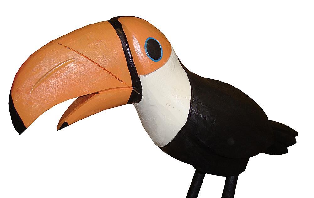 Schnitzfigur Tukan Lotte