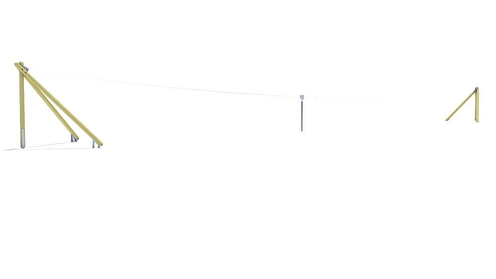 Seilbahn Montana 30 m für Hügelverbau