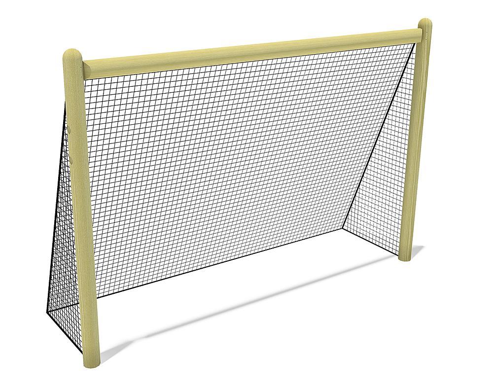 Holztor mit Netz, 300x200 cm
