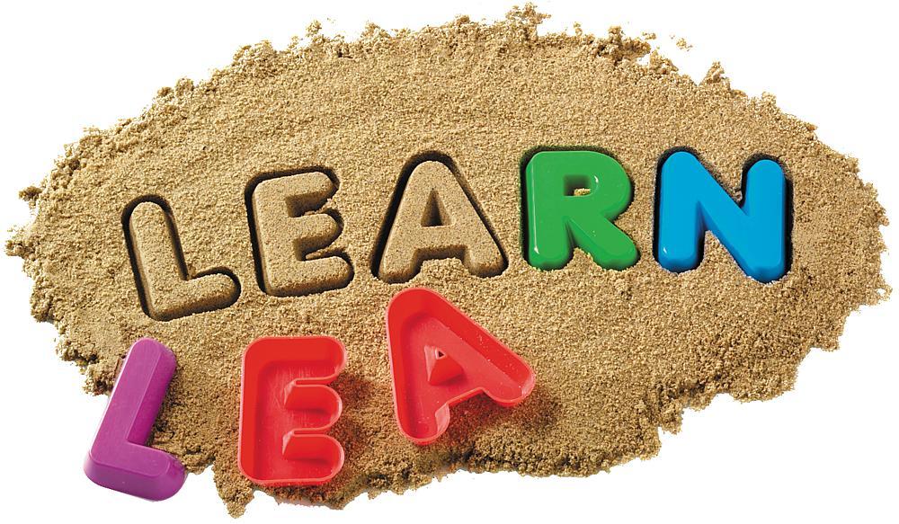 Sandformen Buchstaben und Zahlen