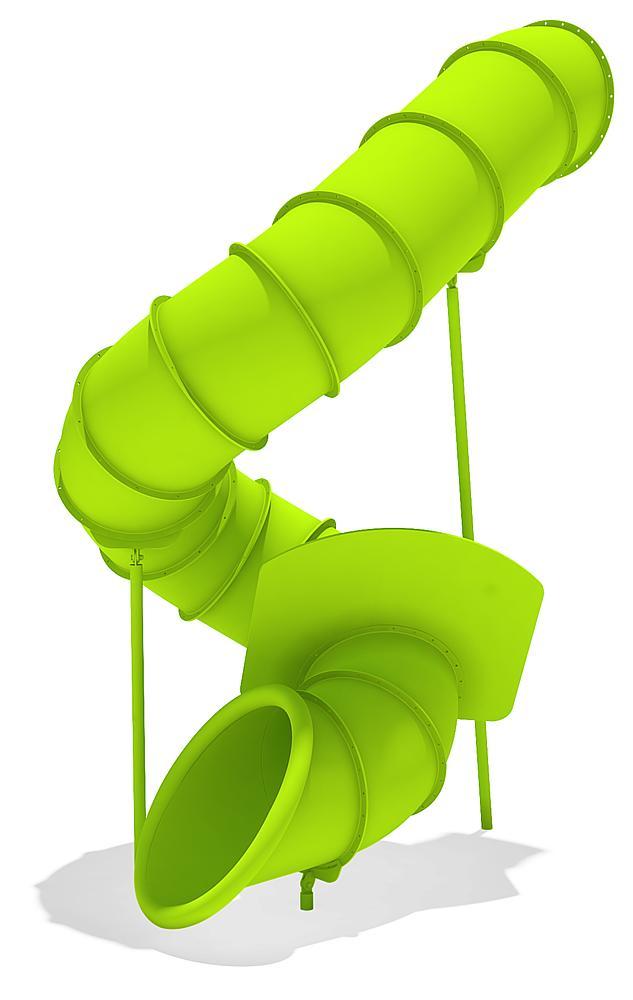 Röhrenanbaurutsche 360 Grad, rechts gewendelt, PH 345 cm