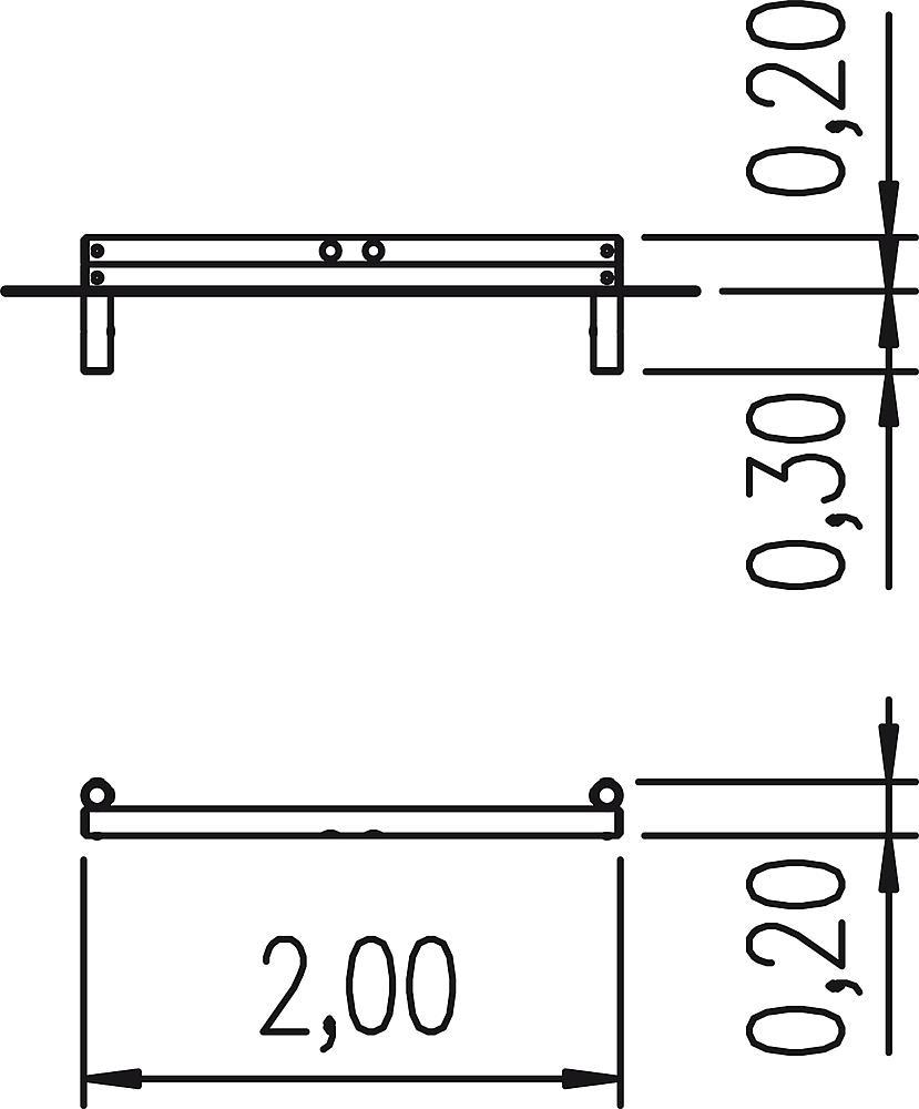 Palisadensandkasten Seitenteil 200 cm