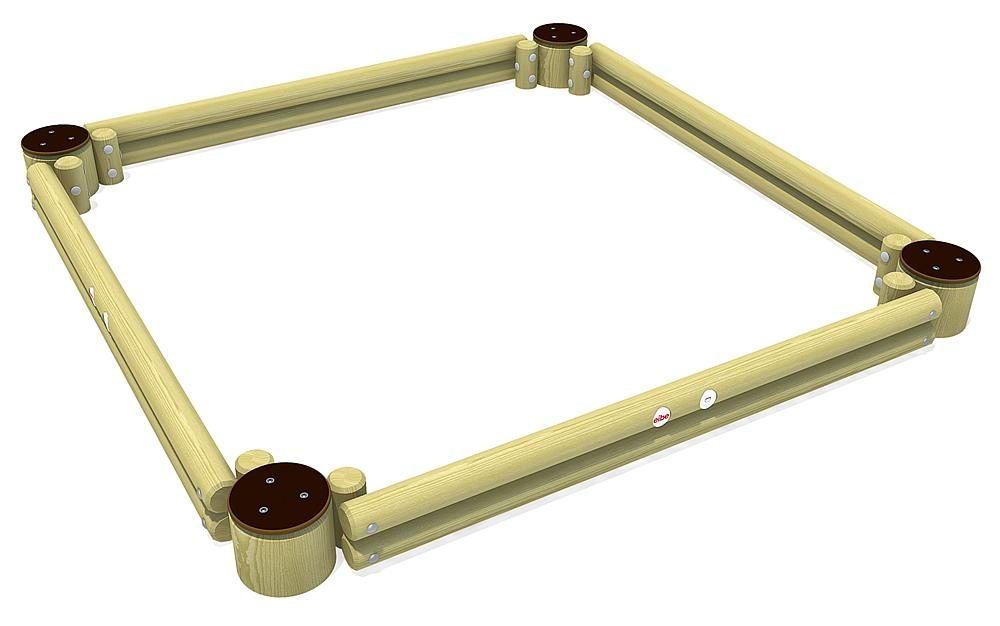 Palisadensandkasten Quadrat 260 cm