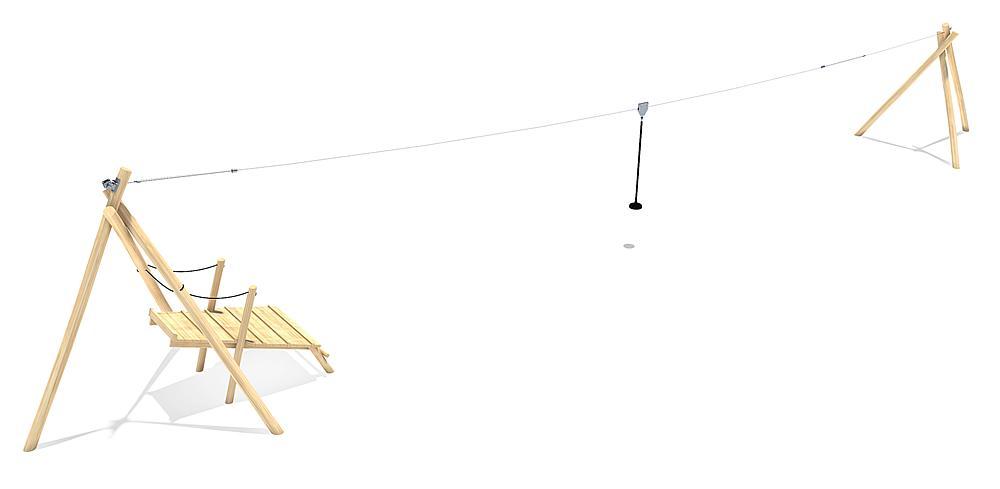 Seilbahn Tardo mit Startpodest 20 m