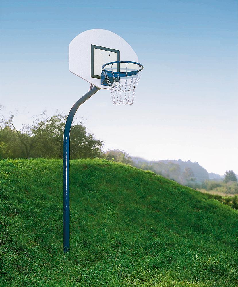 Basketballanlage Stahlrohr inkl. Bodenhülse