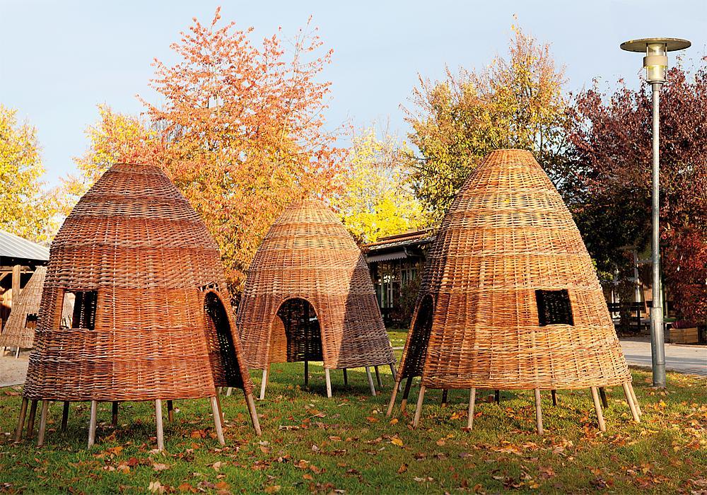 Weidenhütten-Set, 3-teilig