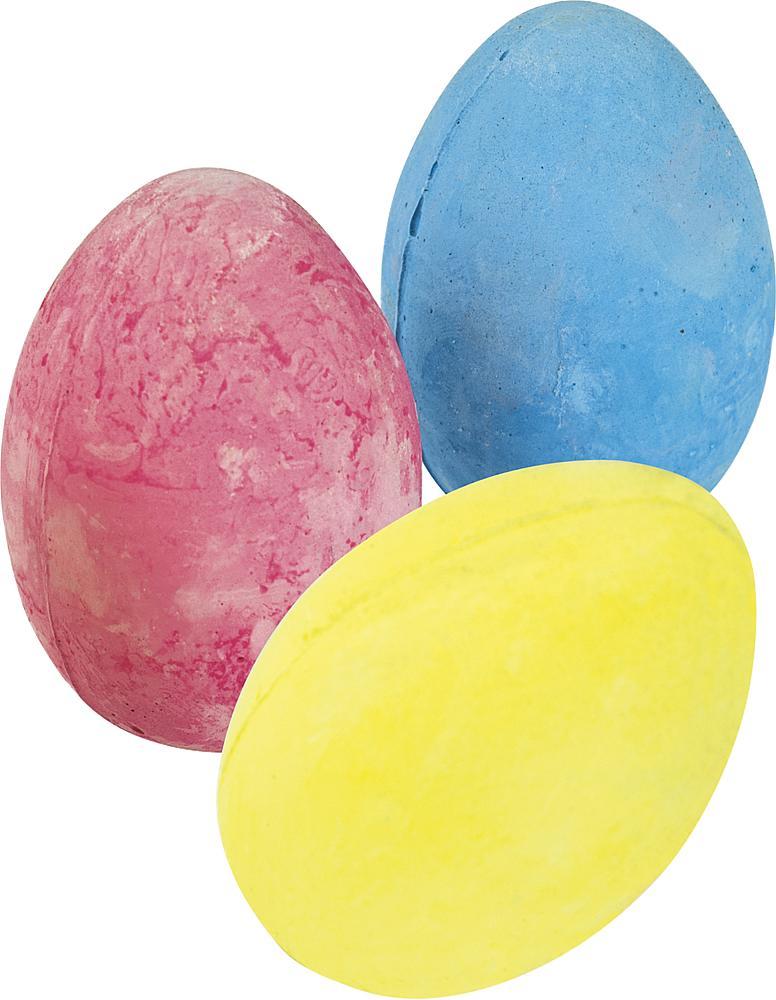 Straßenmalkreide Eierform, groß