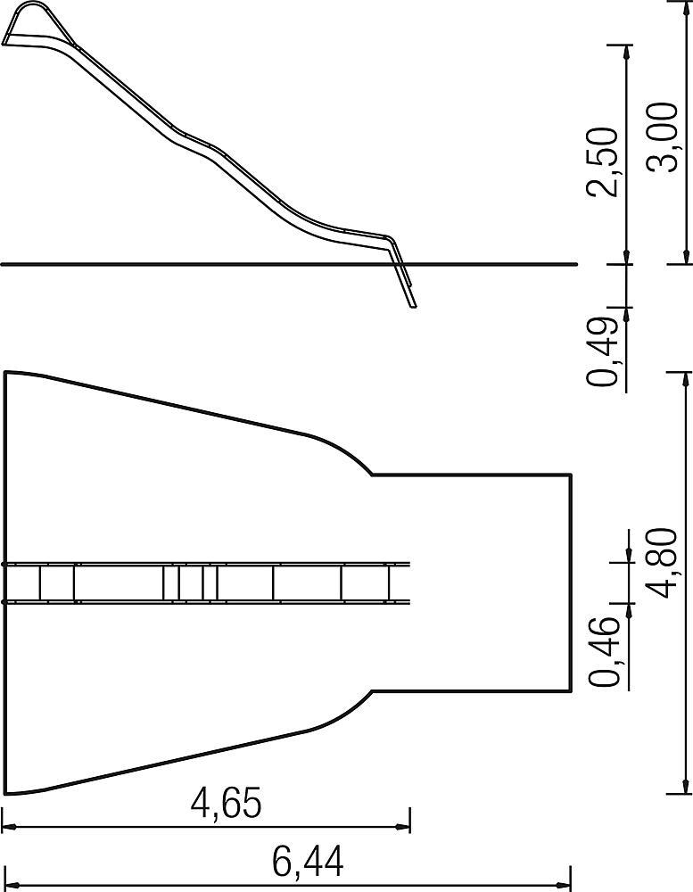 Wellenrutsche PH 250 cm