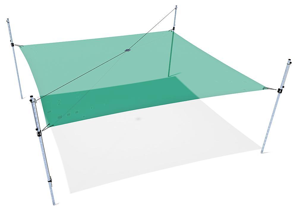 Schattensegel höhenverstellbar 5x5 m