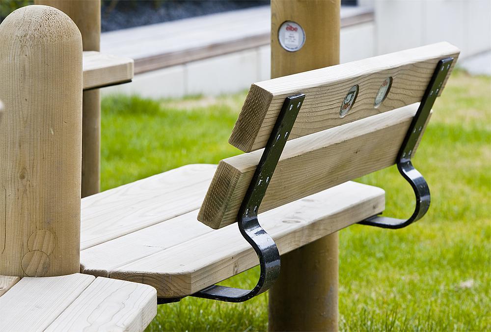 eibini Sitzfläche mit Rückenlehne