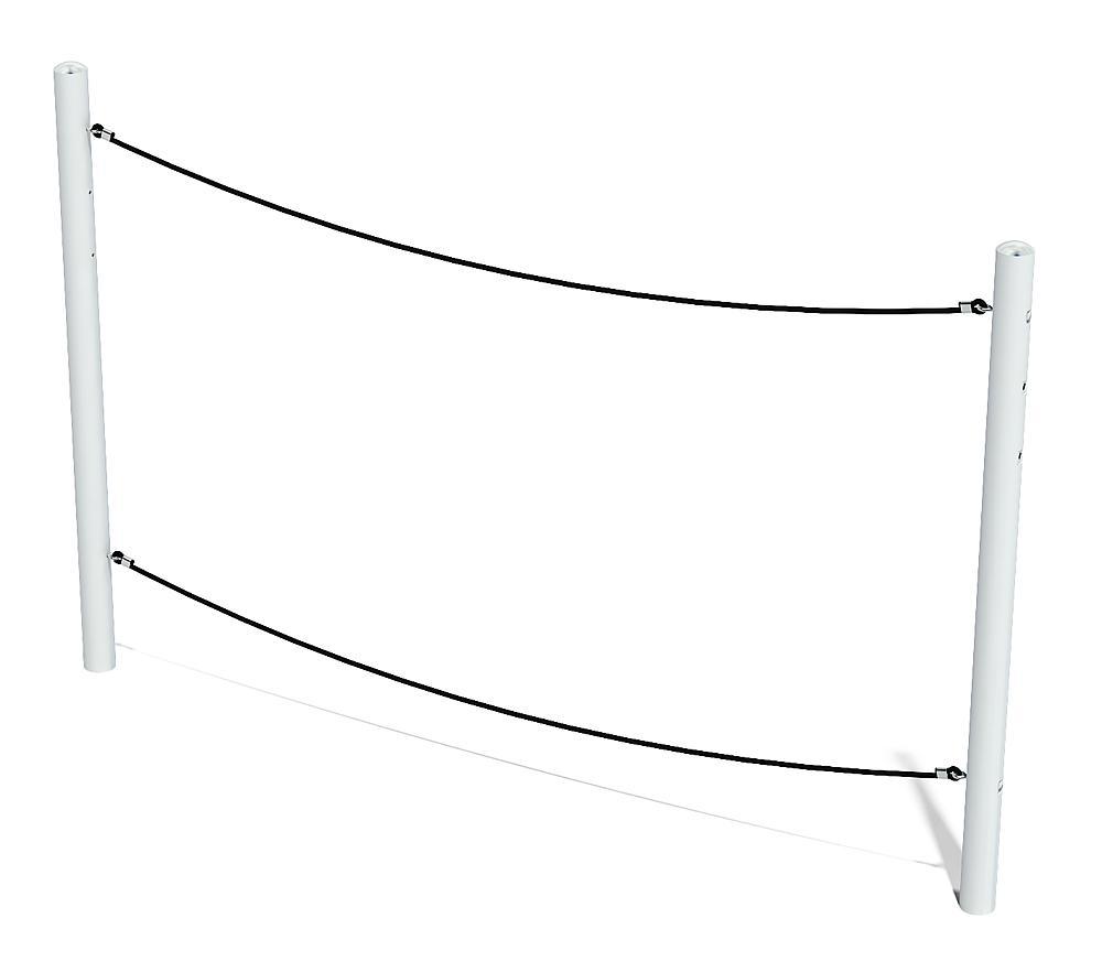 balance Balanceseil Walzer mit Metallpfosten